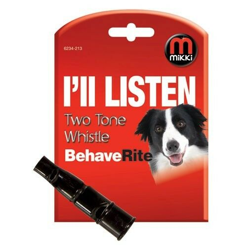 MIKKI I'LL LISTEN TWO TONE DOG PUPPY POCKET CLIP OBEDIENCE TRAINING WHISTLE 2321