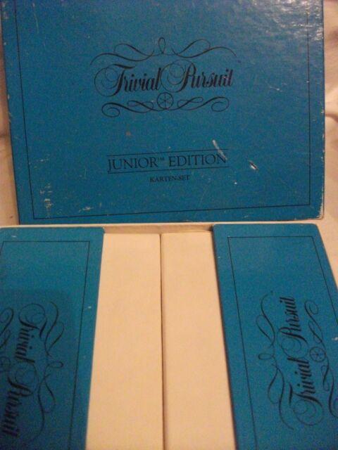 """TRIVIAL PURSUIT KARTEN - SET / ERWEIERUNGSKARTEN """"JUNIOR EDITION"""" 2 BOXEN"""