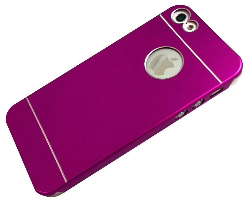 Metal Aluminum Brushed Hard Back Cover Case Skin for iPhone 5/5s ...