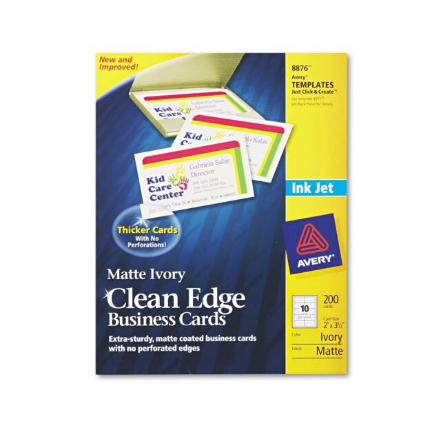 Avery true print clean edge business cards inkjet 2 x 3 12 ivory avery true print clean edge business cards inkjet 2 x 3 12 ivory 200 reheart Image collections