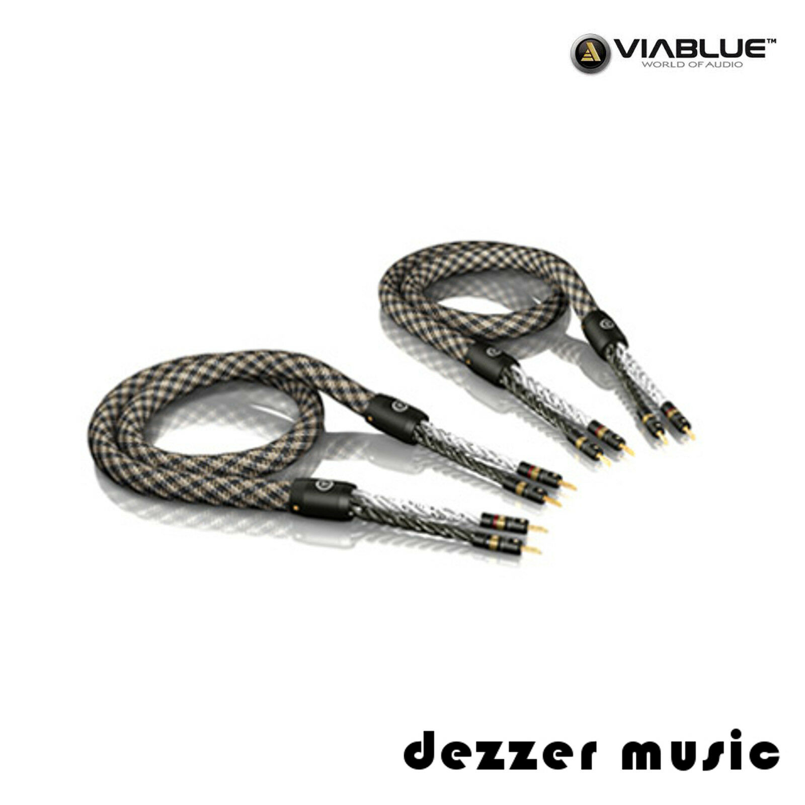 2x3 00m ViaBlue Sc-6 Air Silver mit Bananas T6s / Ls-kabel Single ...