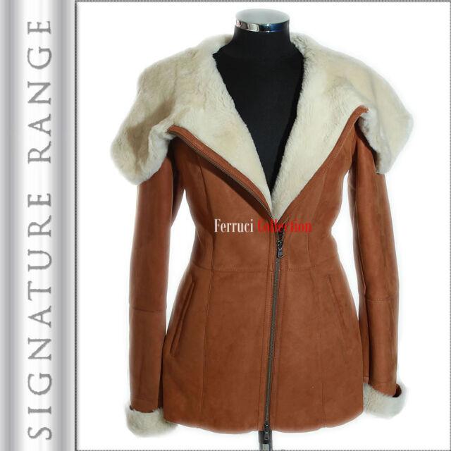 Amanda Brown Ladies Short Spanish Toscana Marino Sheepskin Leather ...