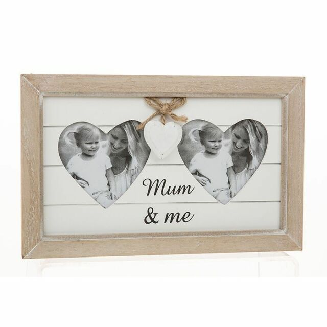 Mum and Me Shabby Chic Provence Range Heart Photo Frame Mothers Day ...