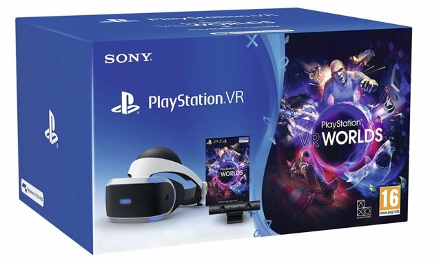 SONY PLAYSTATION VR PS4 PSVR + CAMERA VIRTUAL REALITY HEADSET WORLDS BUNDLE NEW