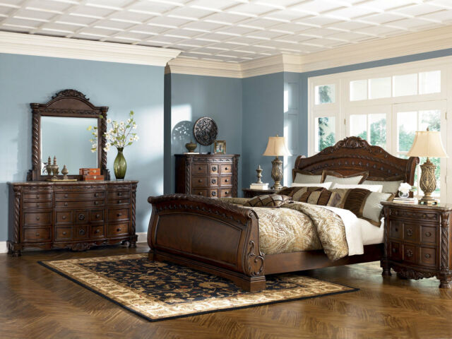 ashley furniture b553 north shore king sleigh bed 8 pc bedroom