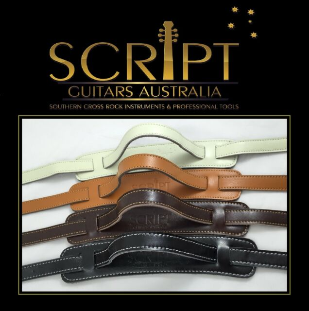 100% Genuine OX Hide Leather SCRIPT Guitar strap for Electric, Acoustic& Bass