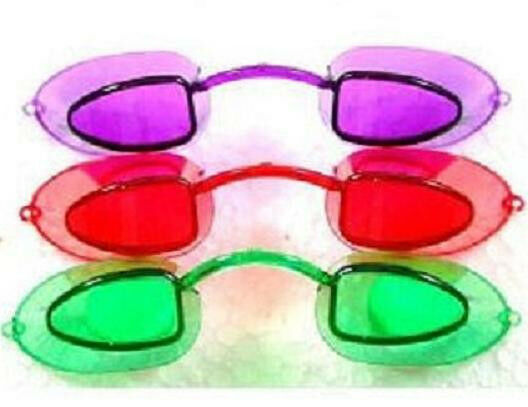 Tanning Bed  Eyewear Goggles Eye Candy Neon Colors  1 Pair with Strings