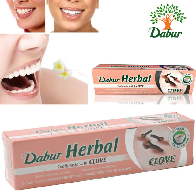 Dabur Herbal Toothpaste with Clove No Added Fluoride Gum Protecting 100 ml