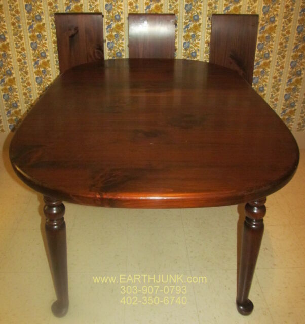 ethan allen antiqued tavern pine oval spoonfoot extension dining table 12 6024 - Extension Dining Table
