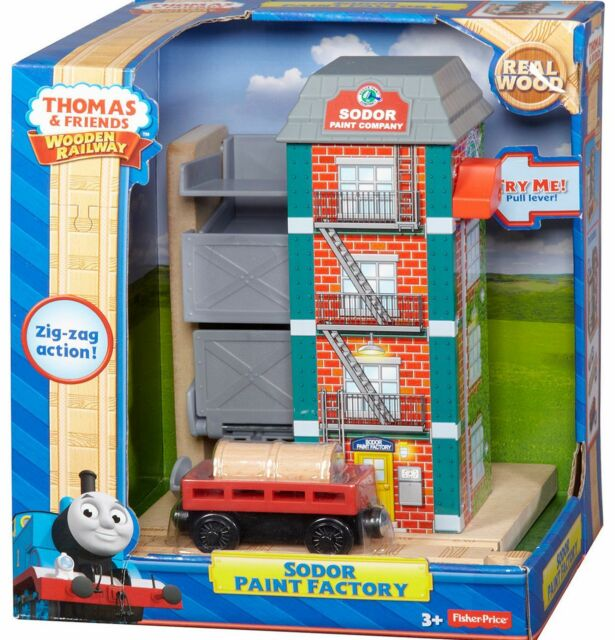 Sodor Paint Factory Y4498 Thomas and friends wooden train set track accessory