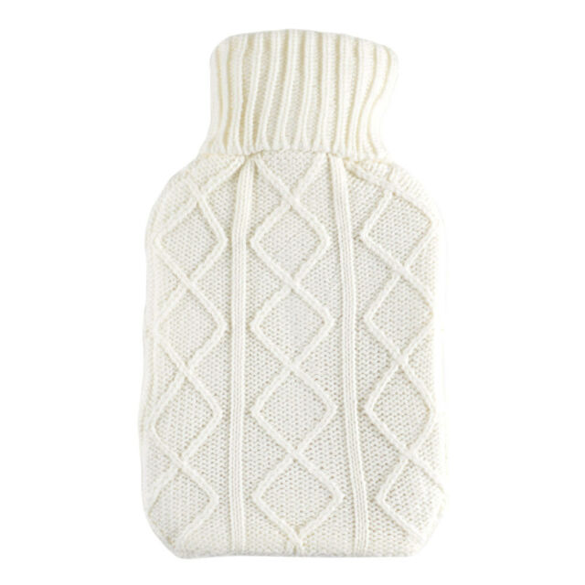 2L Large Hot Water Bottle Quality Hot Water Bottles With  Arran Knitted Cover