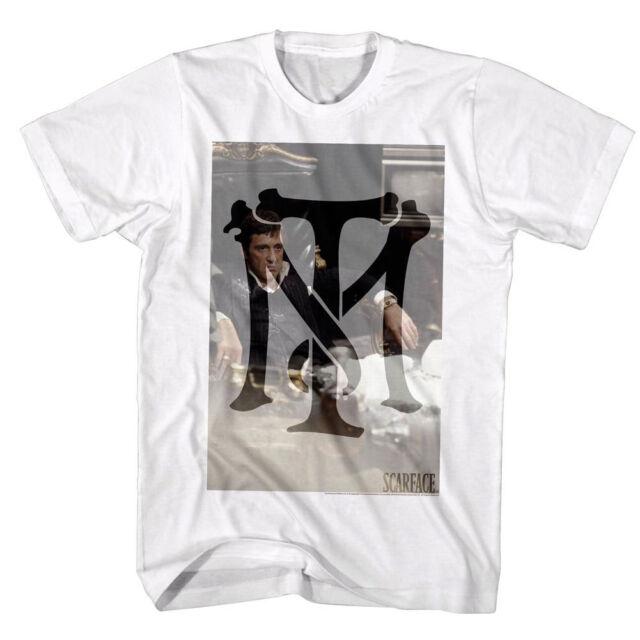 Scarface Tony Montana Bones Symbol Yeyo Mens T Shirt S 5xl White M