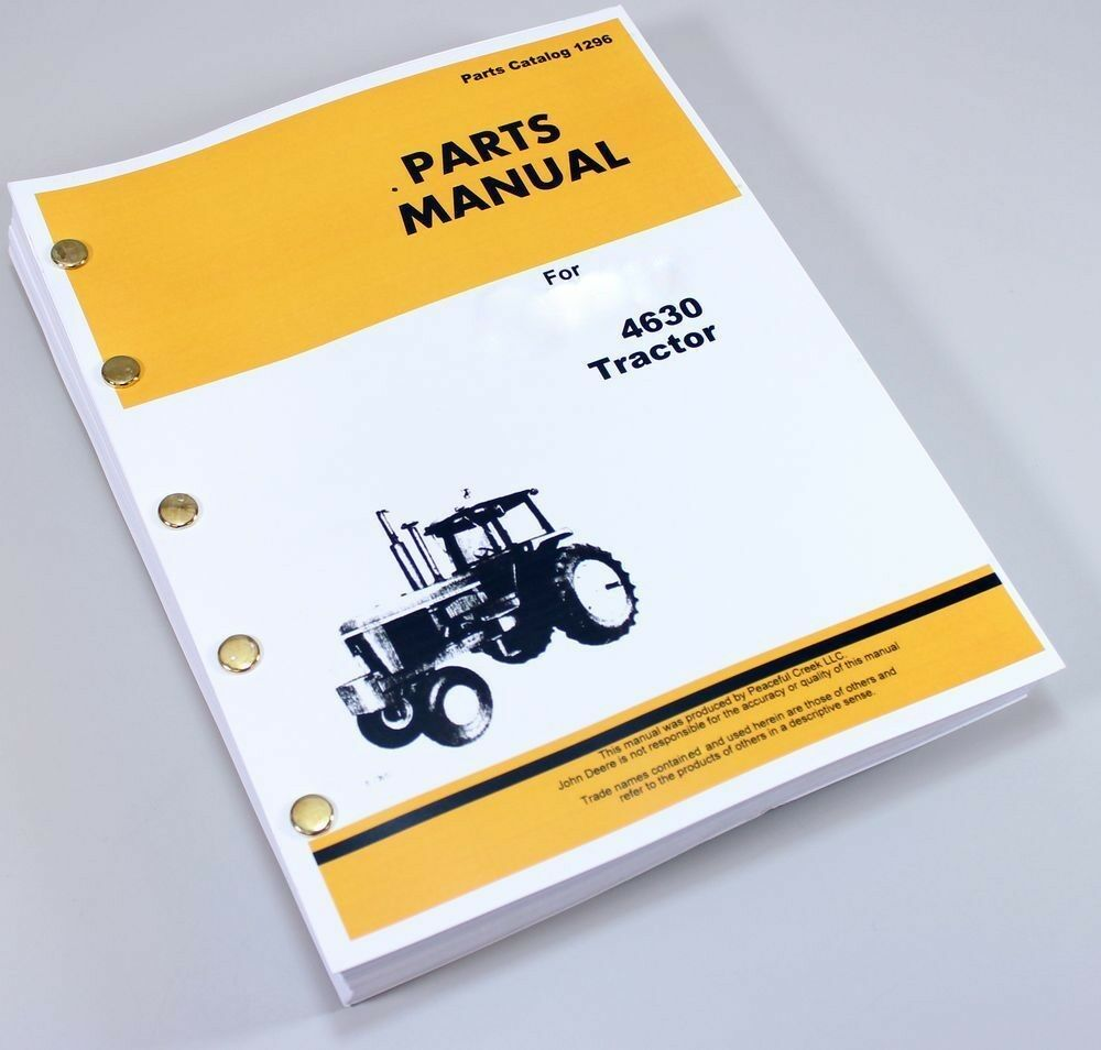 Picture 1 of 7 ... John Deere 4630 Tractor Loader Parts Manual ...
