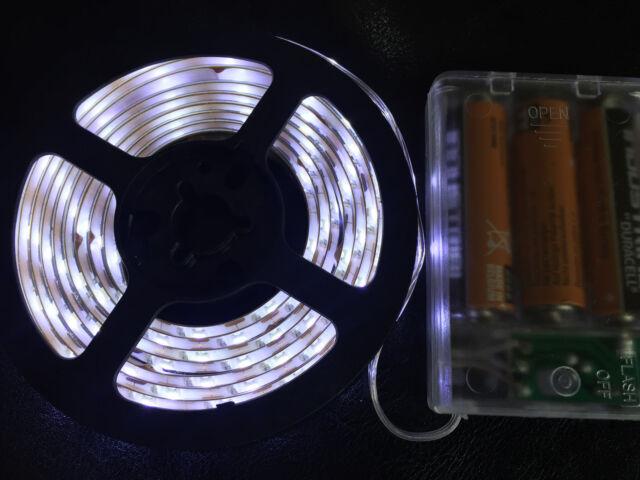2m long 120 white led aa battery powered waterproof led light strip 2m long 120 white led aa battery powered waterproof led light strip aloadofball Choice Image