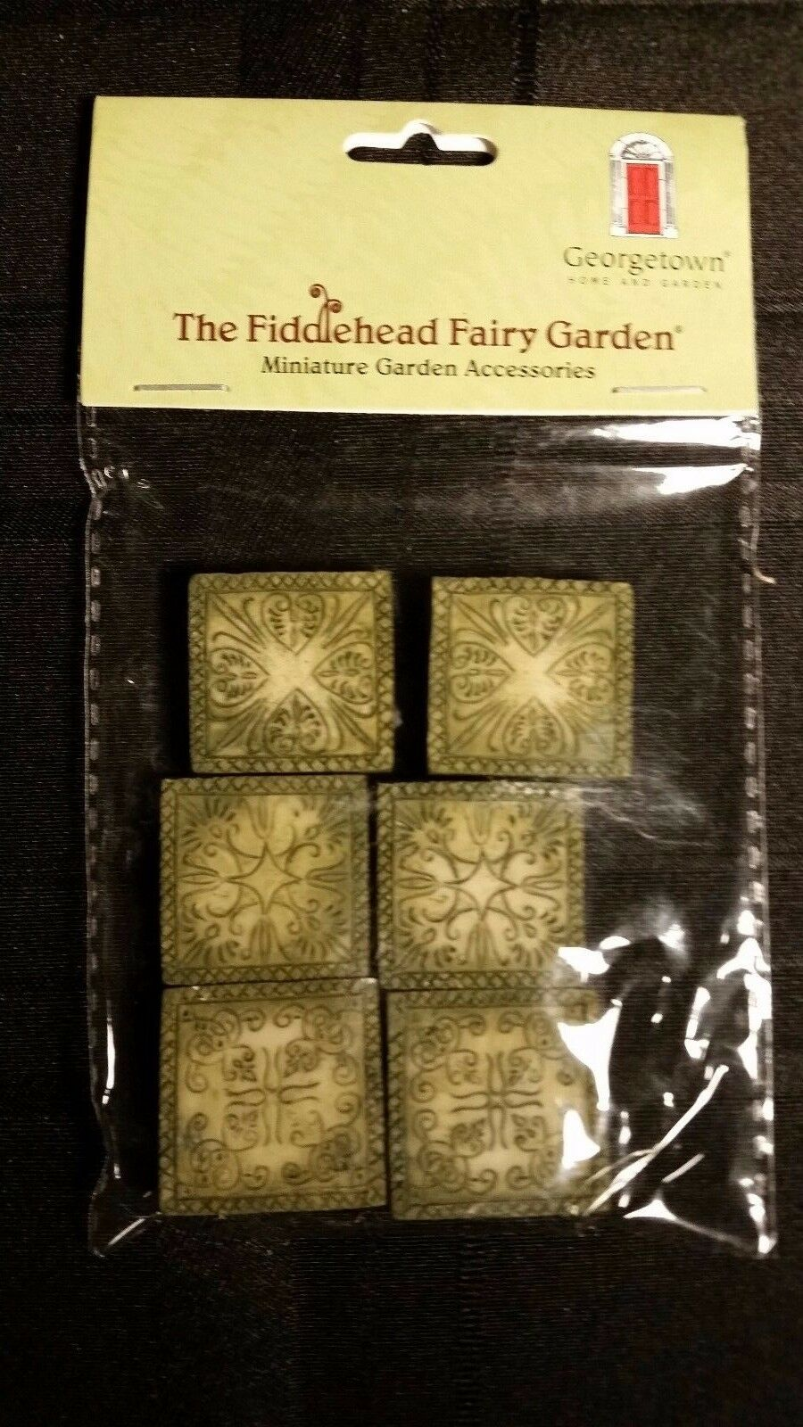 Set of 6 Fairy Garden Ancient Square Stepping Stones 1in X 1inch | eBay