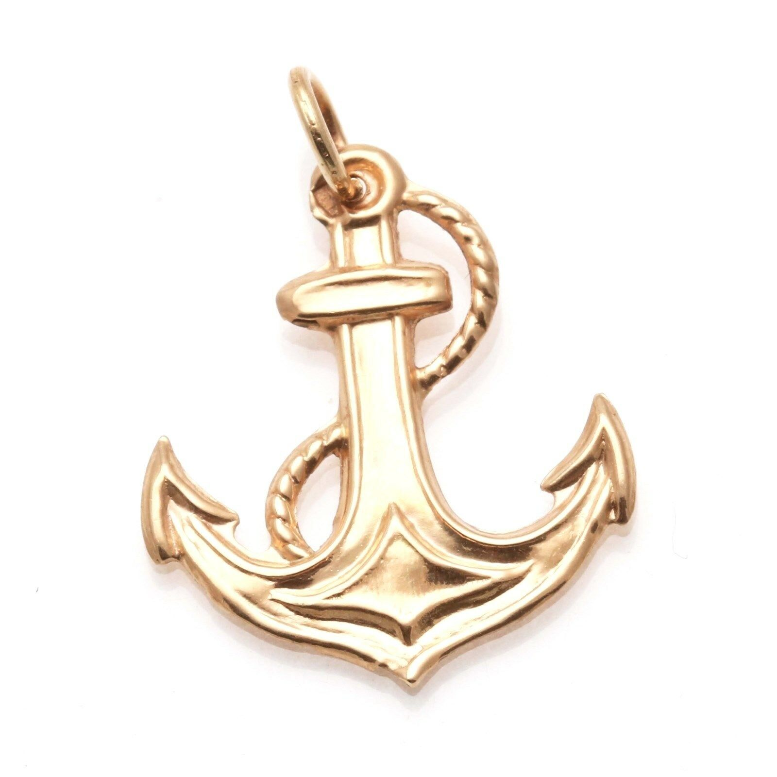 14k Rose Gold Anchor Pendant eBay