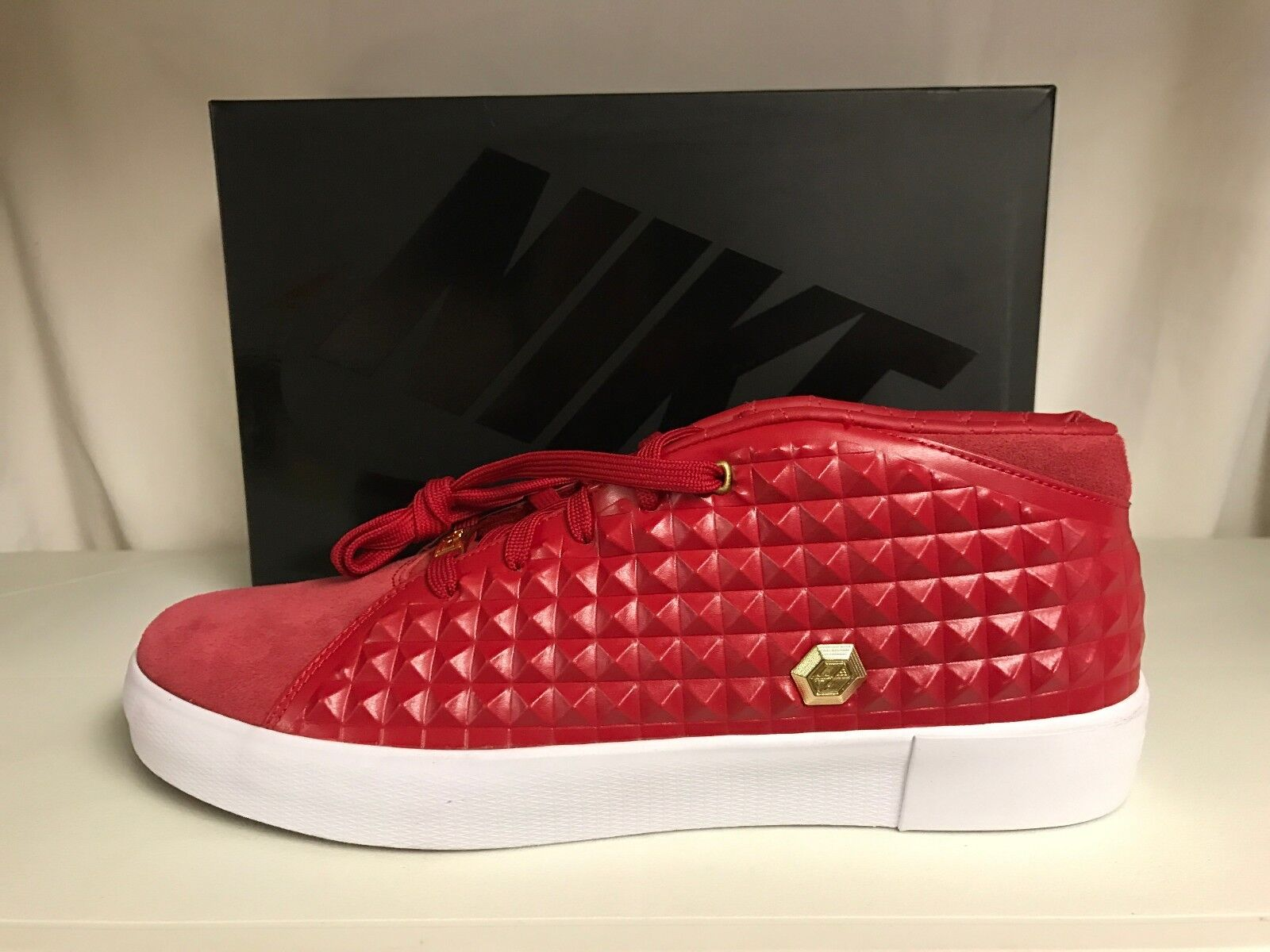 more photos e1113 dbcdf ... get nike 819859 600 lebron xiii lifestyle rare gym red gold sneakers  b4aa0 cfec3