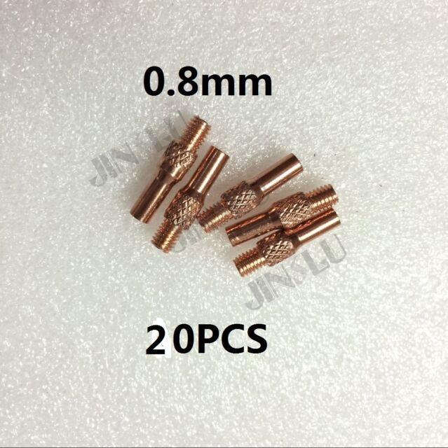 20pk Contact Tip 0.8 OEM MIG Spool Gun Wire Feed Aluminum Welder ...