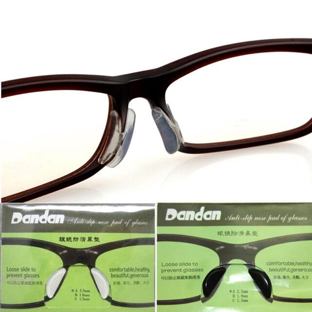 5prs 1.8mm Eyeglasses Silicone Auti Slip Nose Pad Adhesive Plastic ...
