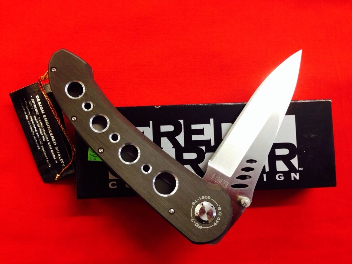 Fc7 Fred Carter Custom Folding Knife CryoEdge 440 S s collectible