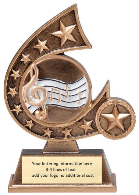 Music Karaoke Singing Recognition Award Trophy Text M Rcs133 Ebay