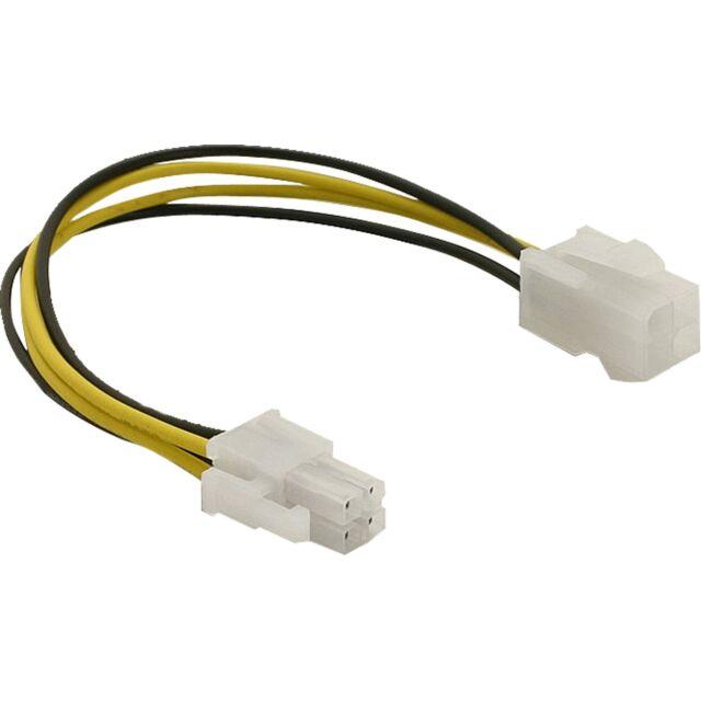 DeLOCK Stromkabel P4 Stecker > P4 Buchse, Kabel