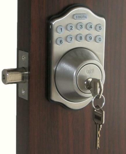 Digital Electronic Keypad Keyless Entry Door Lock Programmable