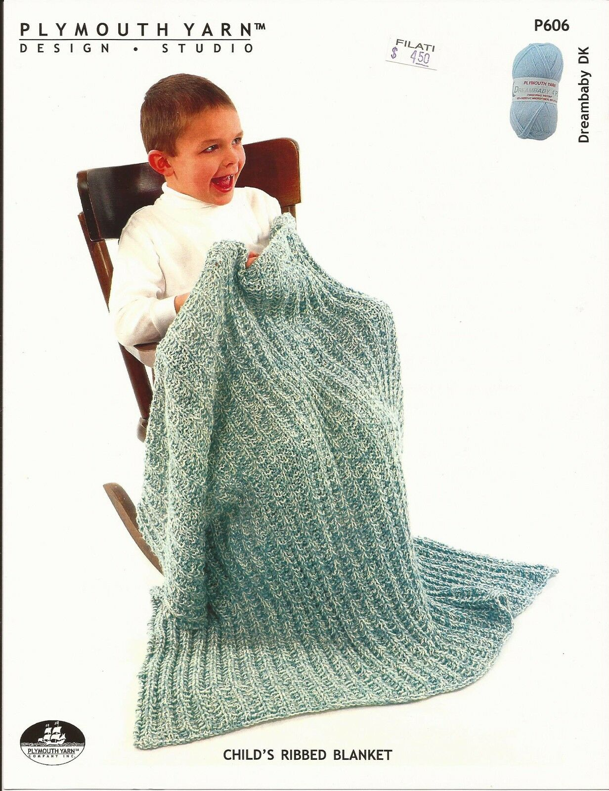 Easy Knit Plymouth Knitting Pattern P606 Dreambaby DK Baby Child\'s ...