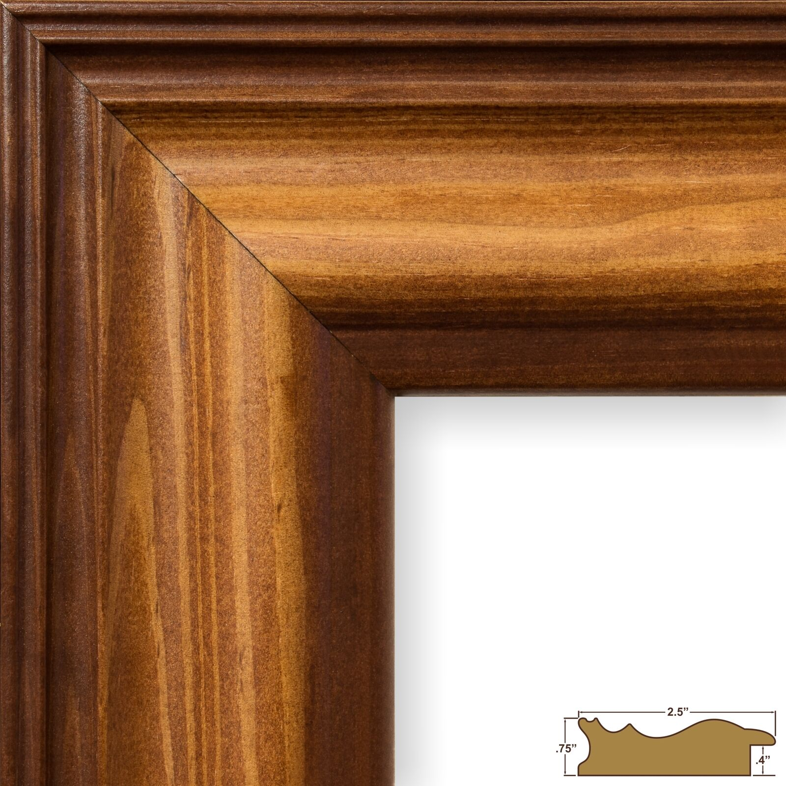 Craig frames americana walnut brown wood picture frame 1 single picture 1 of 10 jeuxipadfo Gallery