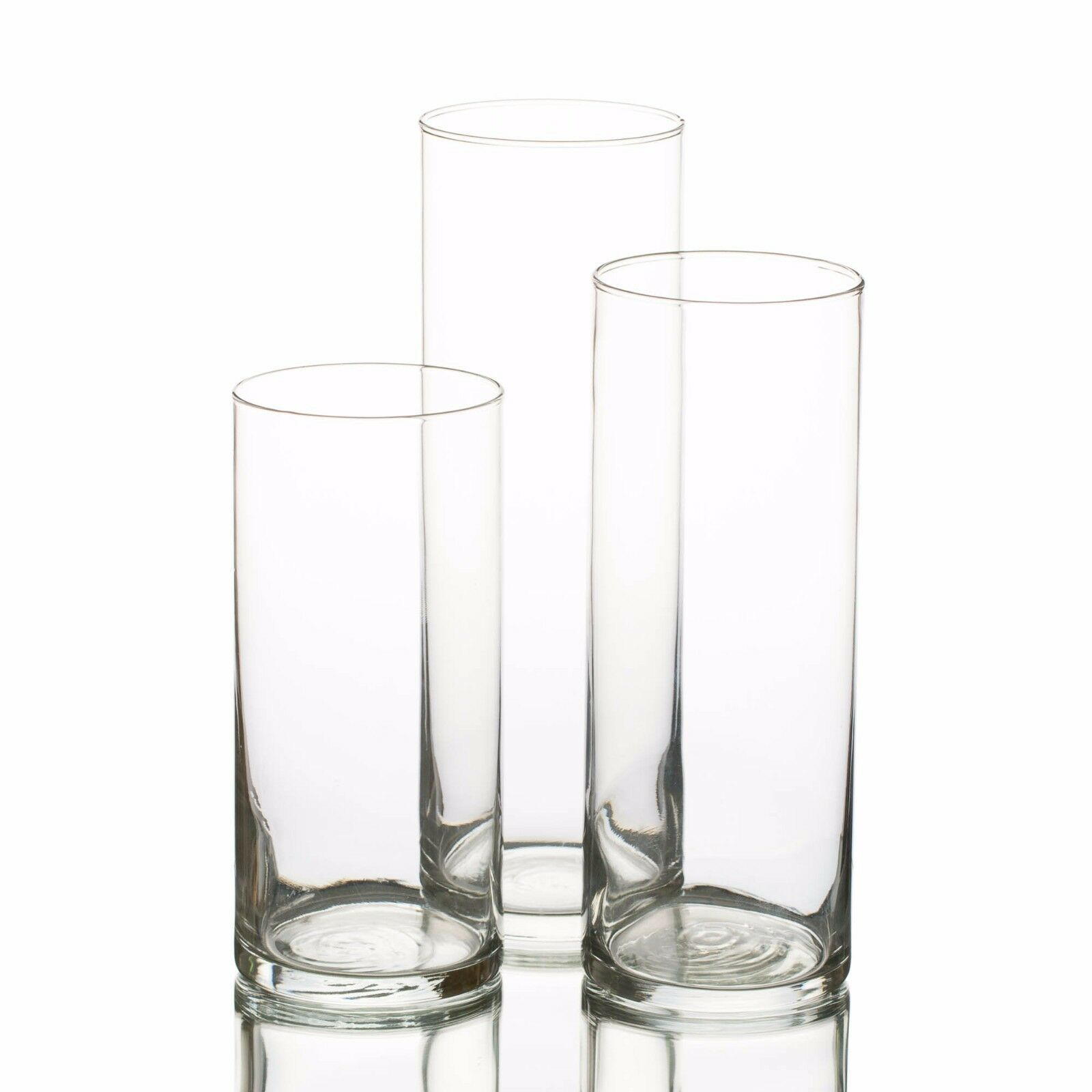 Eastland Glass Cylinder Vases Set of 3 Home Wedding & Event Decor