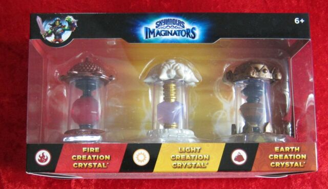 3 Light Fire Earth Creation Crystal Skylanders Imaginators, 3 Kristalle, Neu-OVP
