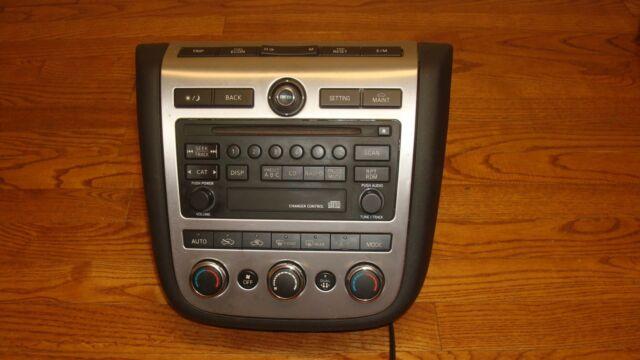 2006 Nissan Murano Oem Single Cd Radio Player Dual Climate Control Rhebay: 2006 Nissan Murano Radio At Gmaili.net
