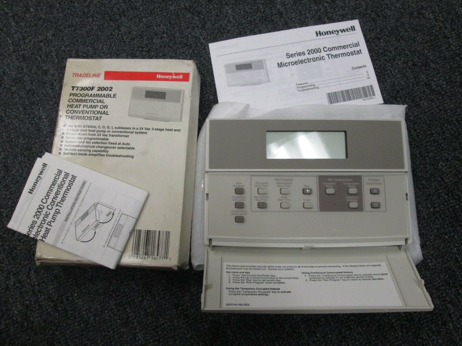 Honeywell Rth2310b 5 2 Day Programmable Thermostat Instructions Wiring R845a Zones Diy Enthusiasts Thermostats Diydry Co Old Manual