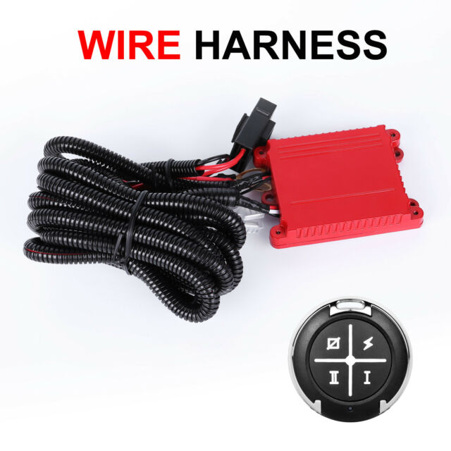 Dual Color LED Work Light Bar Remote Control Wiring Harness Switch ...