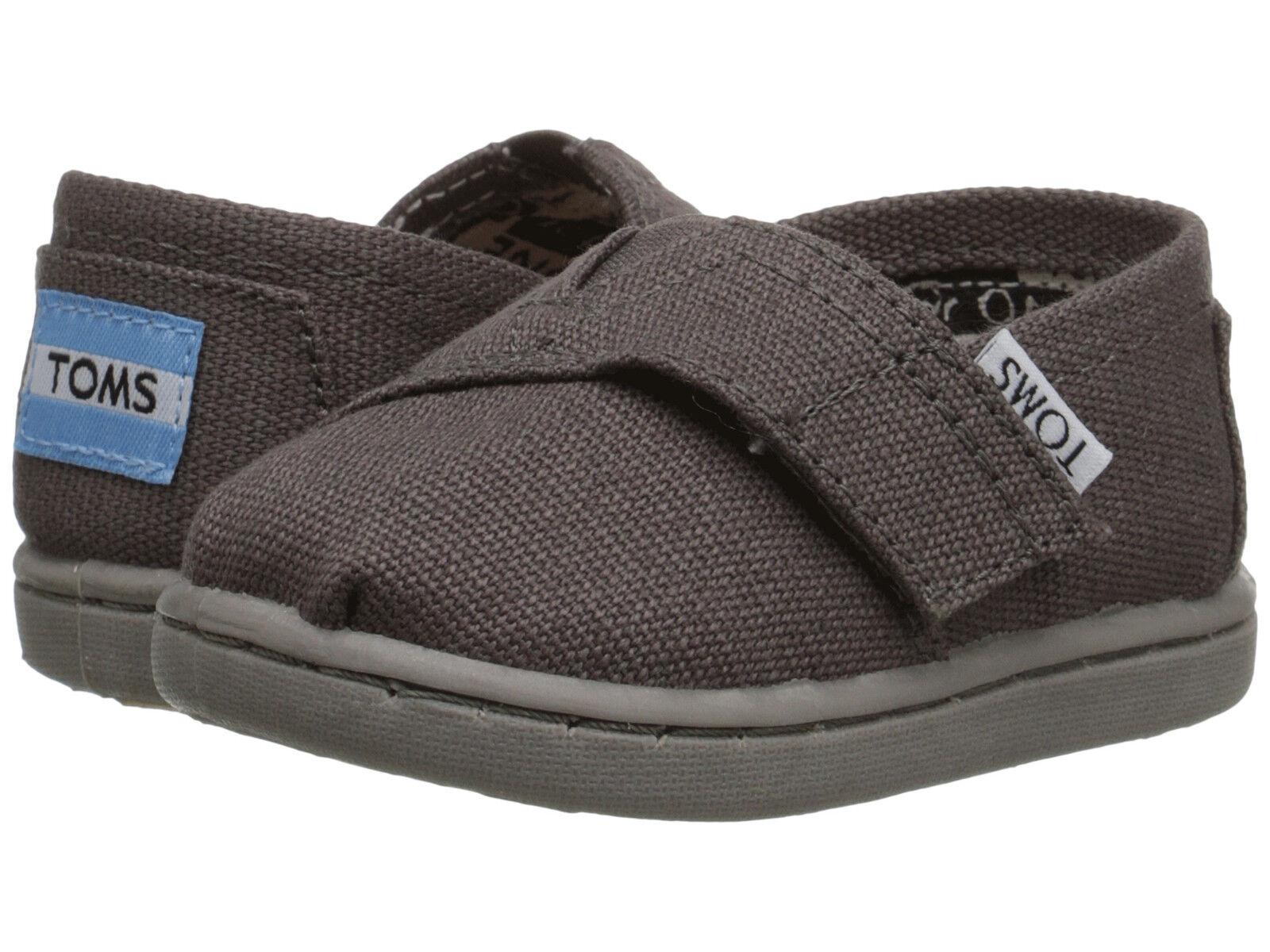 Toms d13ash Tiny Classic Canvas Velcro Shoes Ash Gray Infant