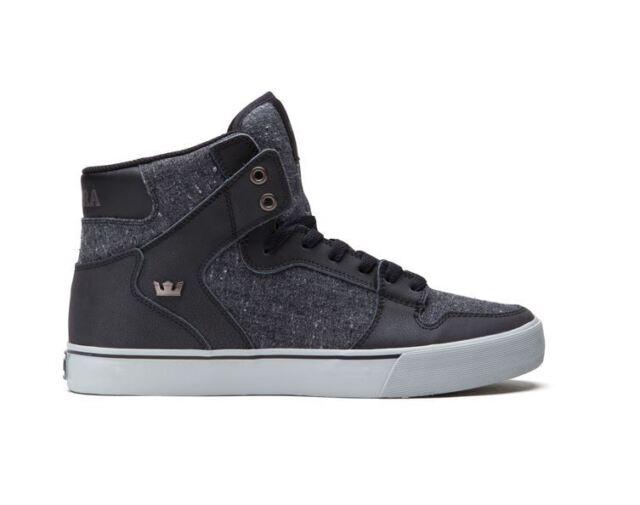 SUPRA VAIDER Men's Sneakers Fashion BLACK/SPECKLE GREY S28247 Sz7.5-10 FAST