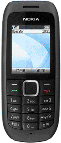 BLACK NOKIA 1616-2 MOBILE PHONE - ON VIRGIN WITH NEW HOUSE CHARGAR AND WARRANTY