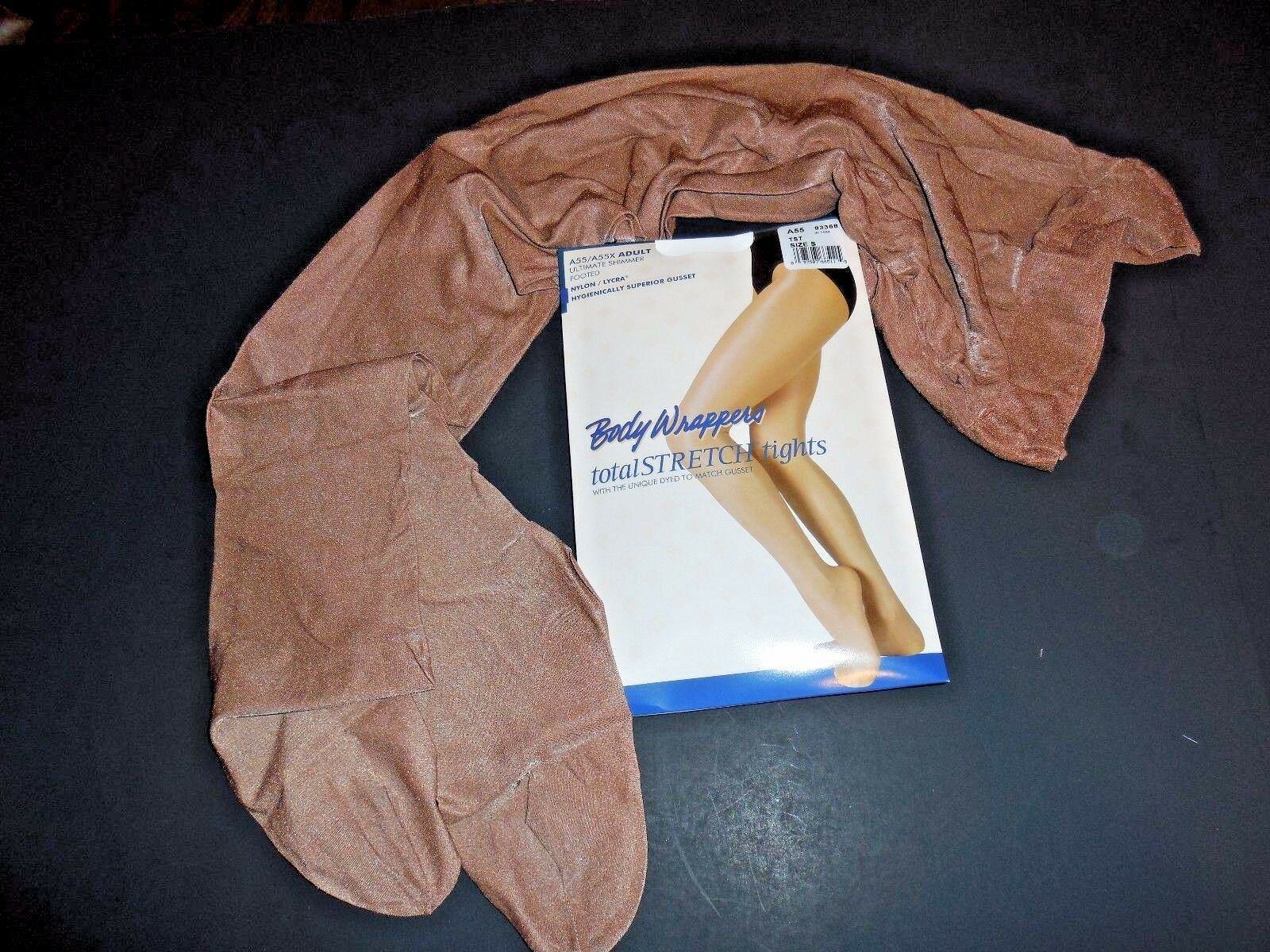 fcf954b07bae4 Body Wrappers Womens Ultimate Shimmer Footed Tights Toast 3x/4x - A55