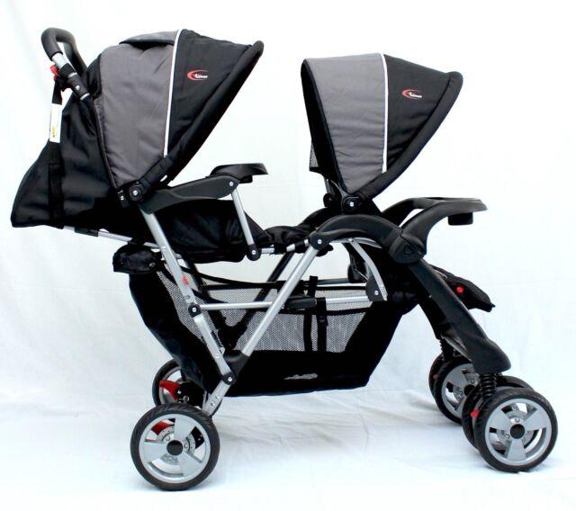 Brand New Mamakiddies Tandem Stroller Pram Twin New Born Toddler Baby Jogger