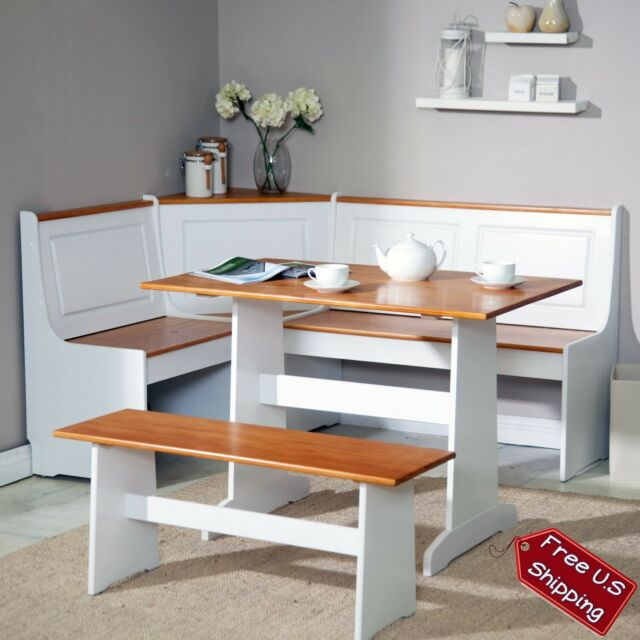 Dining Room Bench With Storage: Corner Nook Dining Set Bench Breakfast Kitchen Booth