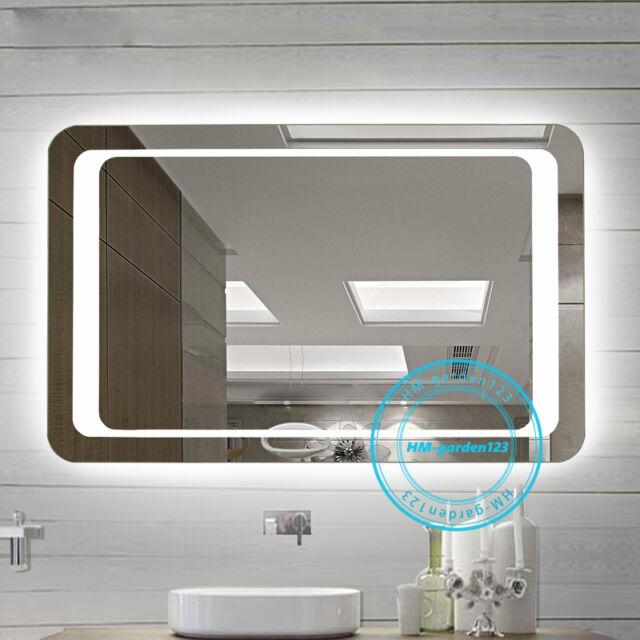Large 800mm Modern Illuminated Led Lighted Bathroom Mirror Wall