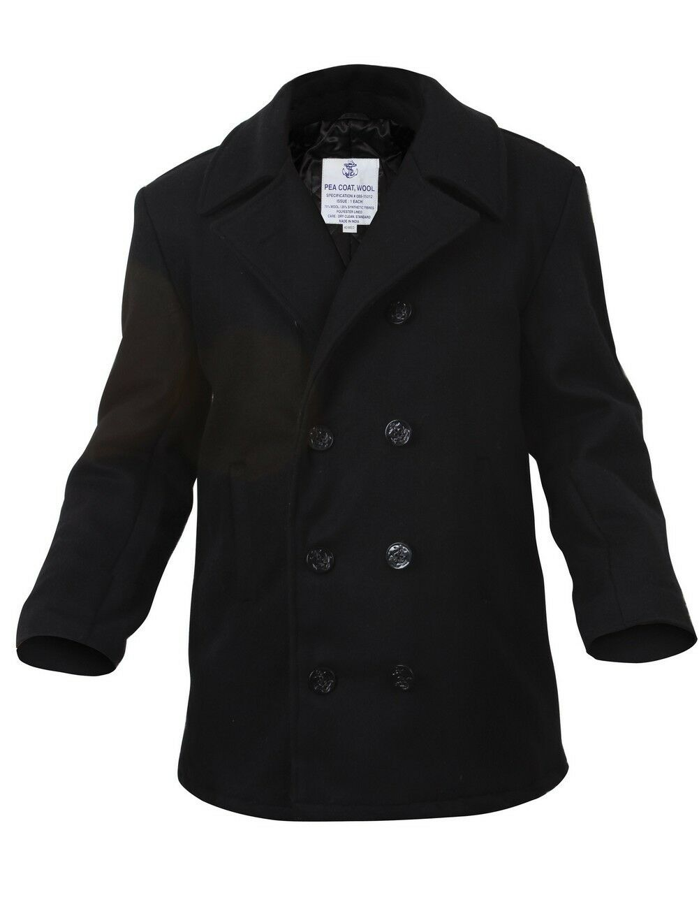 Rothco US Navy Type Pea Coat - 7472 Black S | eBay