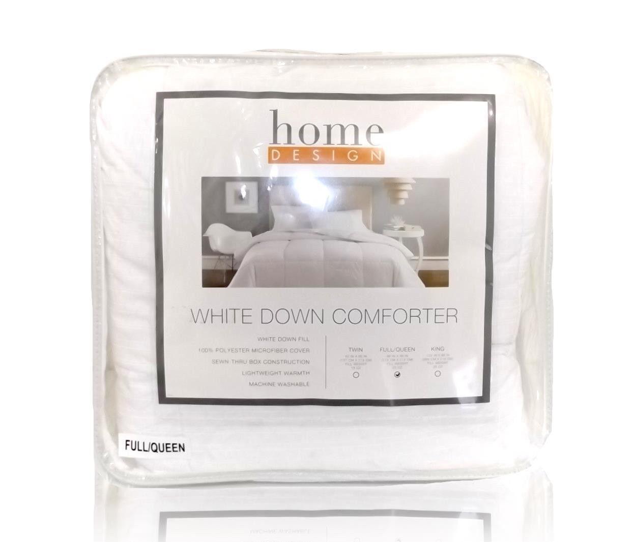 Home Design Down Hypoallergenic Alternative Full / Queen Comforter ...