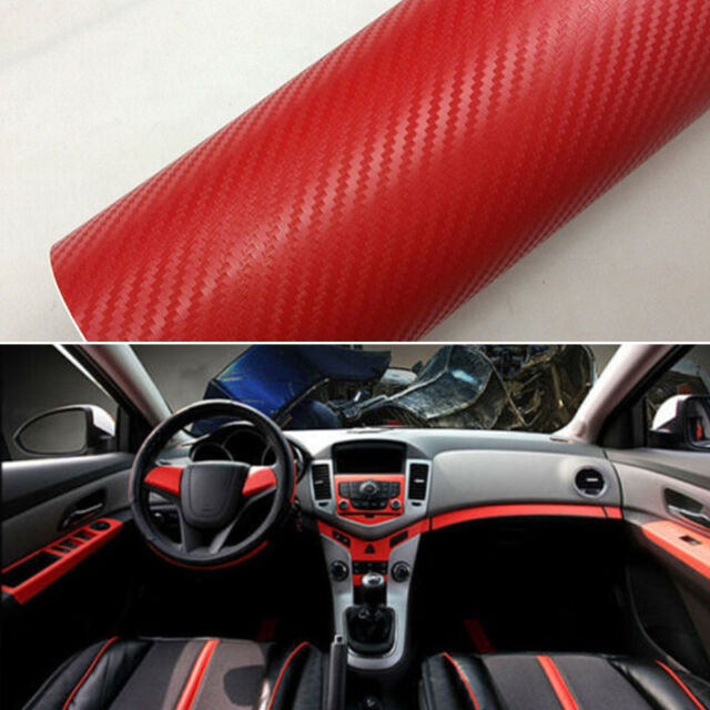 auto car suv interior accessories panel red carbon fiber vinyl wrap sticker ebay. Black Bedroom Furniture Sets. Home Design Ideas