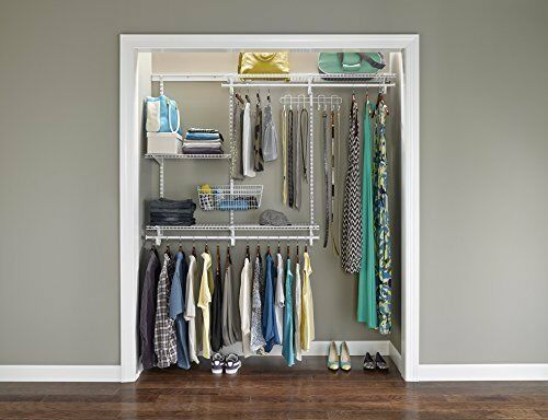 Perfect Adjustable Closet Organizer Kit   ShelfTrack 4ft To 6ft (White) By  ClosetMaid