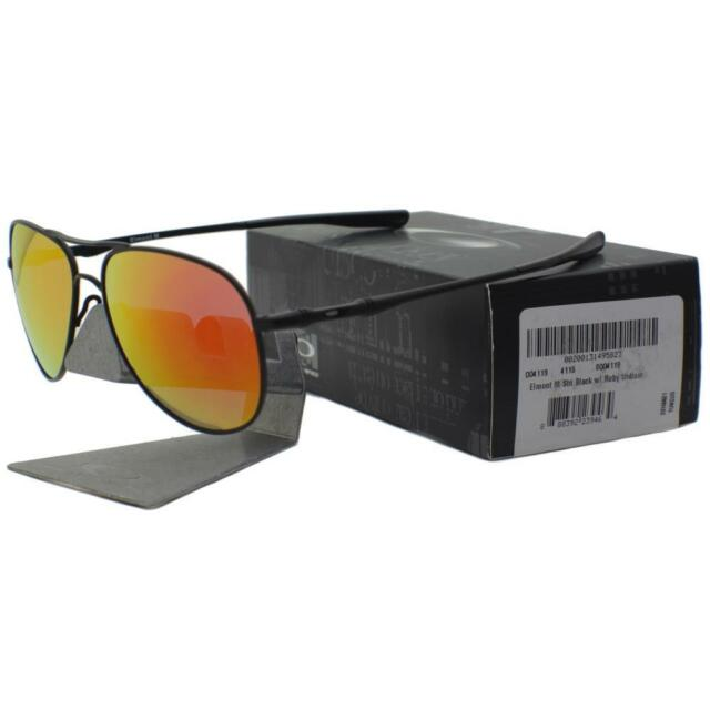 26c68bc45d ... france oakley oo 4119 0458 elmont m satin black ruby iridium mens womens  sunglasses 59a0d 805fa ...