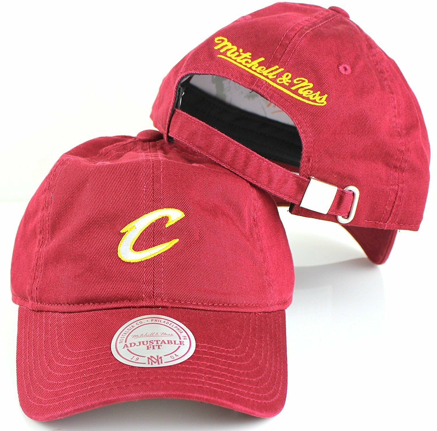 53c0742e196 Cleveland Cavaliers NBA Mitchell   Ness Cotton Adjustable Backstrap ...