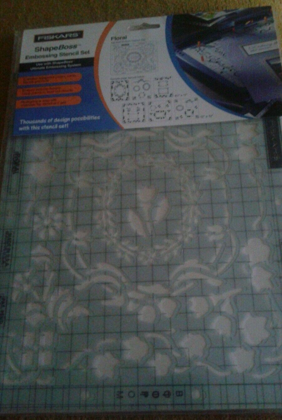 Fiskars Stencil Floral 5620 for Shape Boss Embossing Set Scrapbook ...