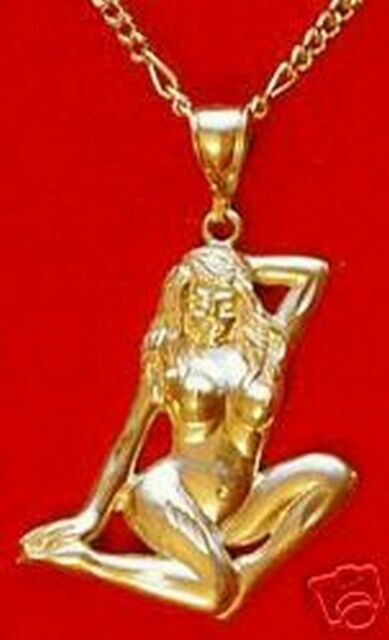 Big artistic nude lady woman art 24kt gold plated charm ebay big artistic nude lady woman art 24kt gold plated charm aloadofball Image collections