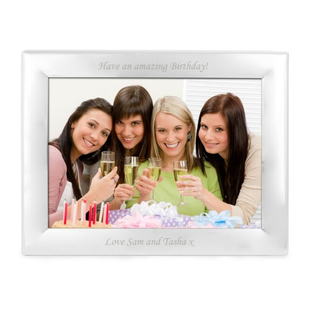 Personalised Engraved Silver Landscape 5x7 Photo Frame - Birthdays ...